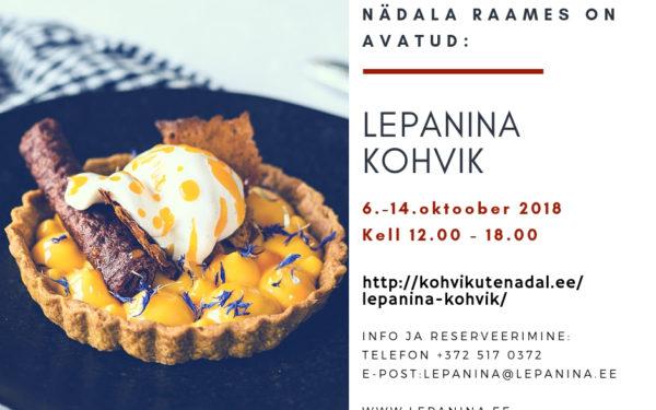 """"""" Lepanina """" kohvik on avatud"""