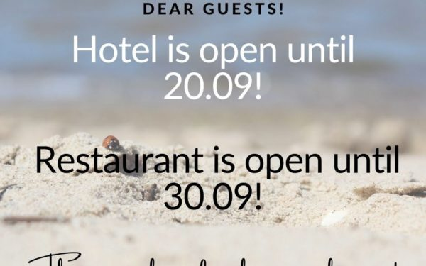 Restaurant is open in september