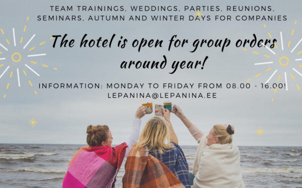 The hotel is open for group orders!